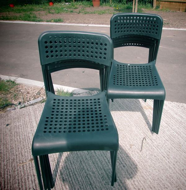 Ex Ikea Oudoor Stacking Chairs