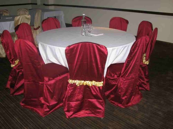 burgundy chair covers