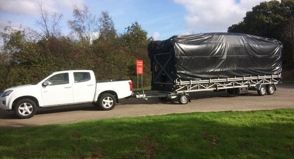 Trailer stage for sale