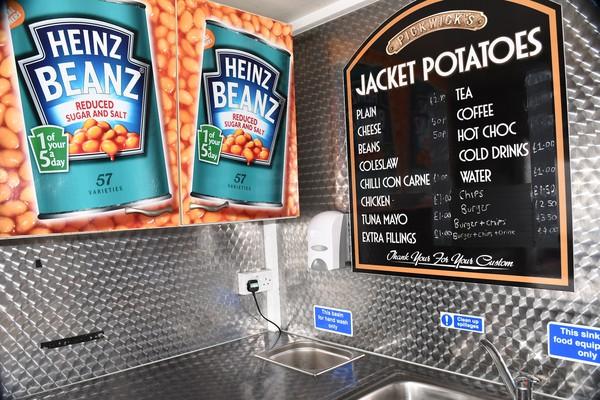 Jacket potato / burger menu