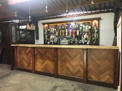 Reclaimed wooden bar for sale