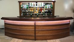 Reclaimed curved bar and back bar for sale