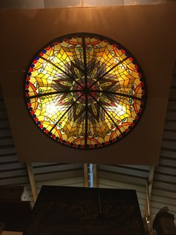 Vintage roof light in stained Glass