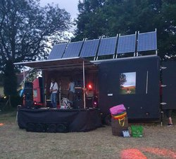 Solar Powered Stage Truck
