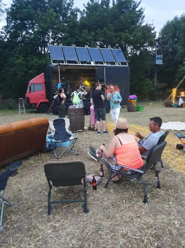 Solar Powered Stage Truck  for sale