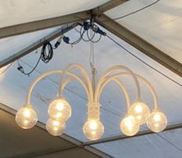 Marquee globe chandeliers / lights