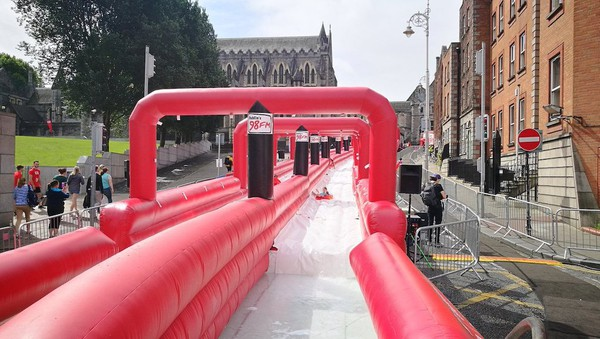 280 Ft Inflatable Slide with Catch Pool - Bristol 1