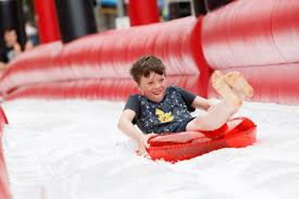 280 Ft Inflatable Slide with Catch Pool - Bristol 4