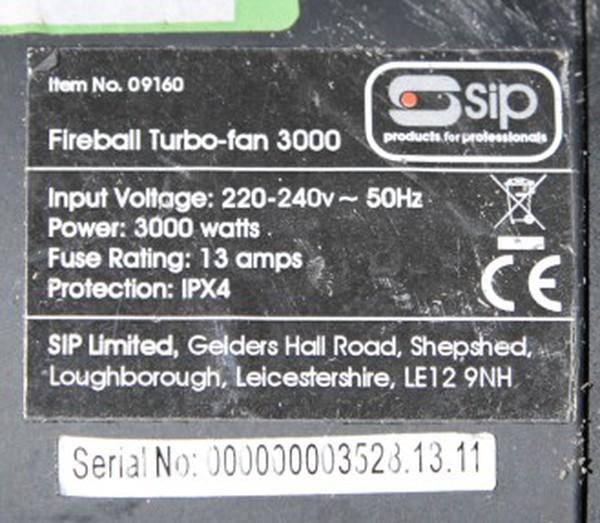 SIP Fireball Turbo Fan 3kw