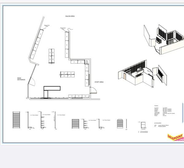 Slatwall Gondola Units layout