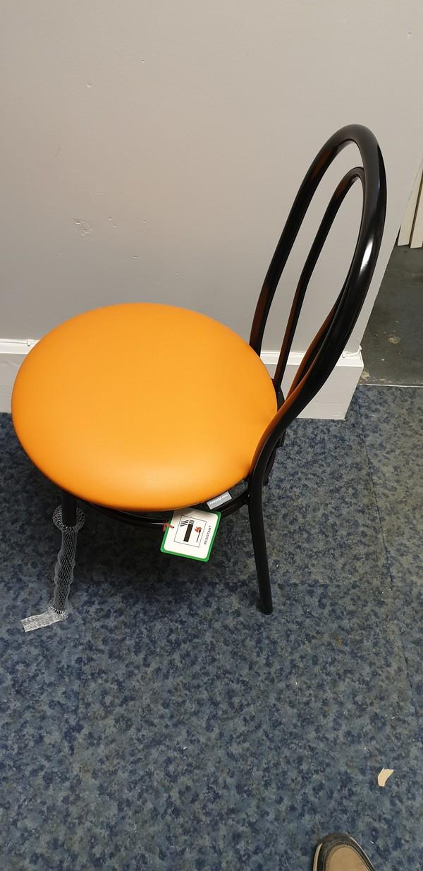 Black and Orange Hoop Back Chairs