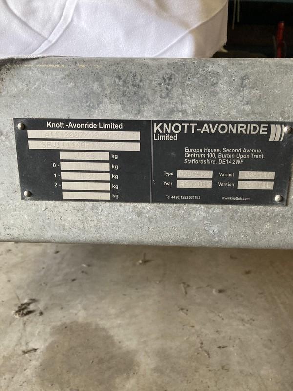 Knott Avonride generator trailer