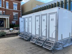 Six bay toilet trailer for sale
