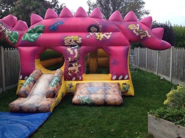 Pink Dinosaur Bouncy Castle