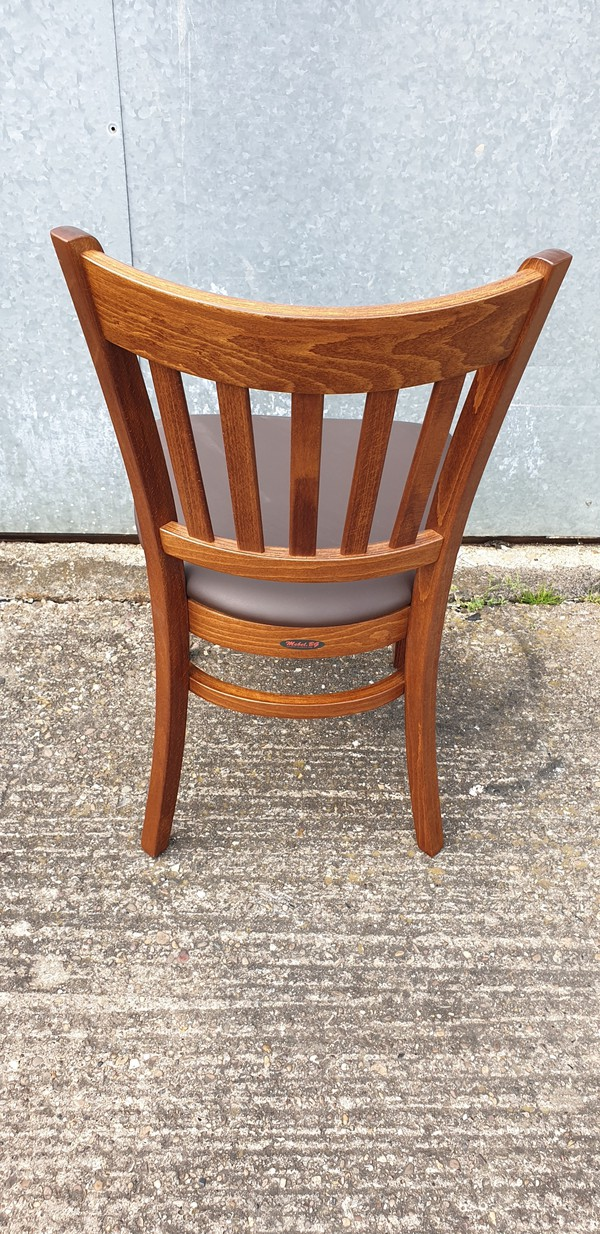 Wooden Faux Leather Dining Chairs