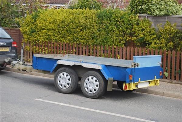 Indespension Challenger braked plant trailer. 8' x 4' bed.