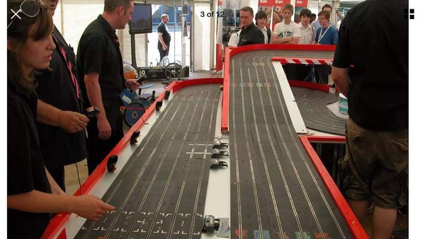 Race Scalextric on a large scale