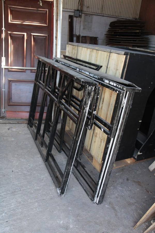 Bars folded for transport