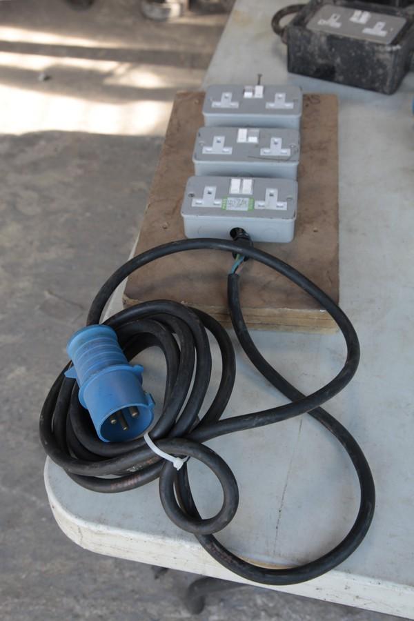 32 amp to 6x 13amp plugs