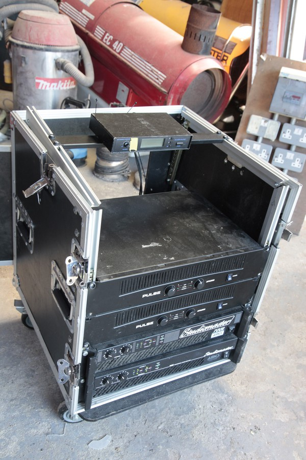 PA Case with Amps and mixer slope
