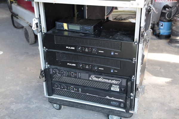 PA Rack with Amps