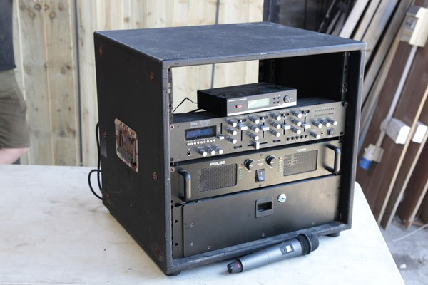 Rack mounted PA system