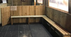 Wooden Benches / rustic half logs