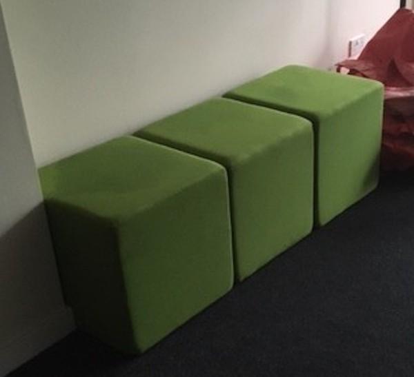 Green Modular Furniture Cubes