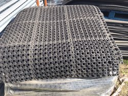 Used rubber matting
