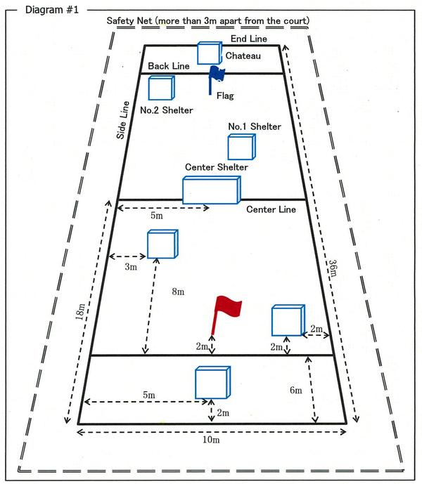 Yukigassen Snow ball game court
