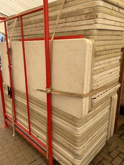 "6' x 2'6"" Plastic trestle tables"