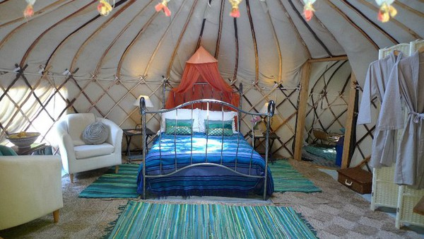 Handcrafted 5 Metre Yurts Interior