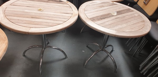 Round Outside Tables