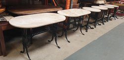 Cream marble tables for sale