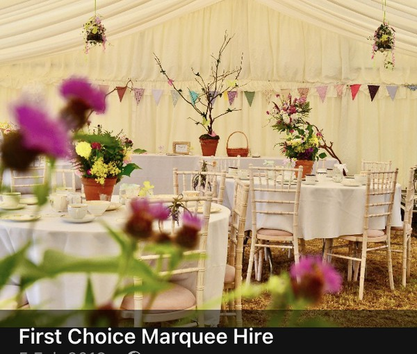 Pleated Ivory Lining marquee for sale