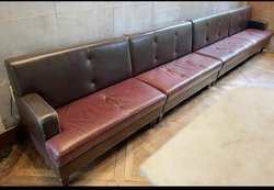 Ex Marco Pierre White Leather Fixed Bench Seating