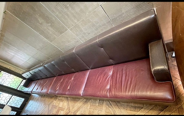 Ex Marco Pierre White Leather Fixed Banquettes