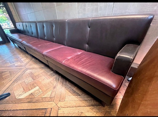 Ex Marco Pierre White Leather Fixed Bench Seats
