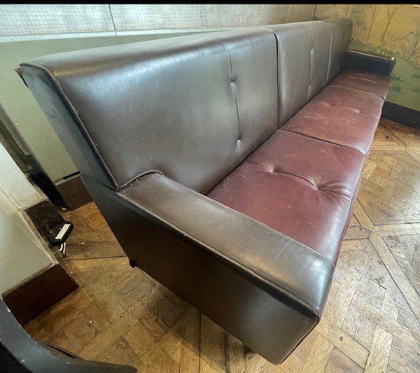 Oxblood and Brown Leather Dining Seating