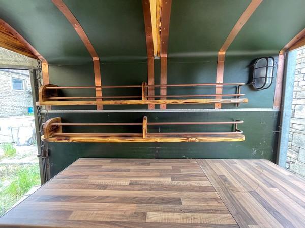 Converted Horse Box Bar Trailer Interior