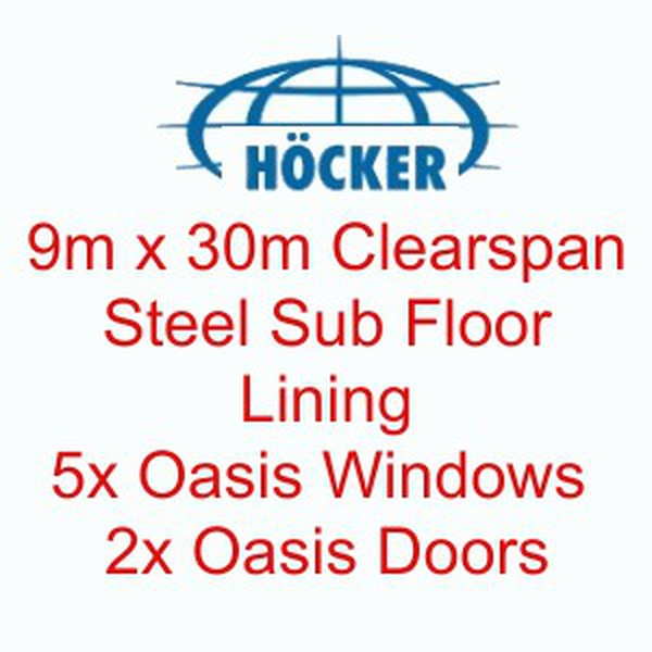 9m x 30m Höcker Framed Marquee With Steel Sub Floor And Lining