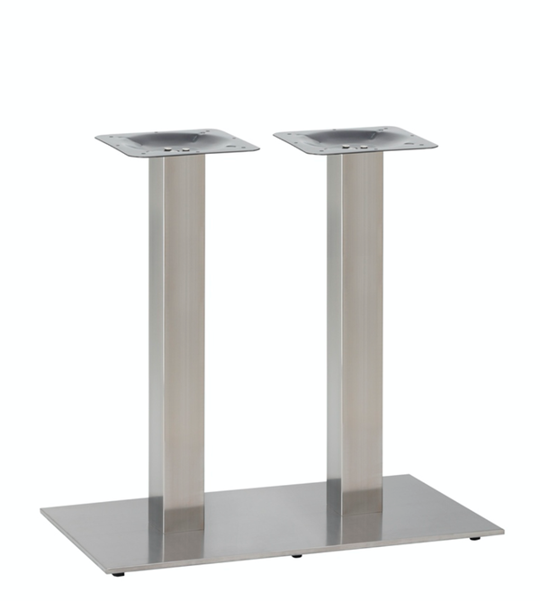 Twin Flat Stainless Steel normal height