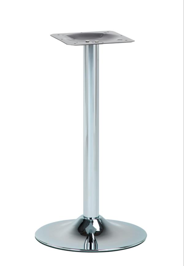 Round Chrome Trumpet table base
