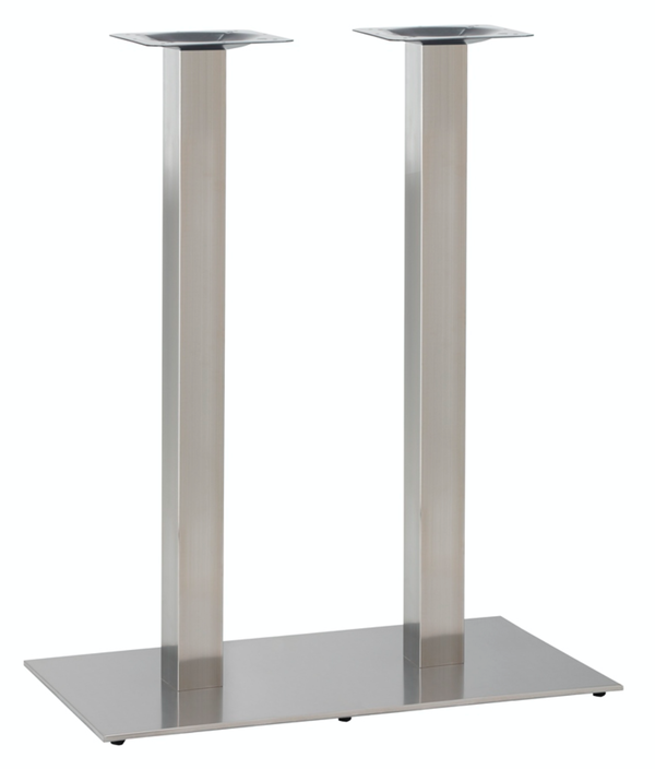 Twin Flat Poseur Stainless Steel table base