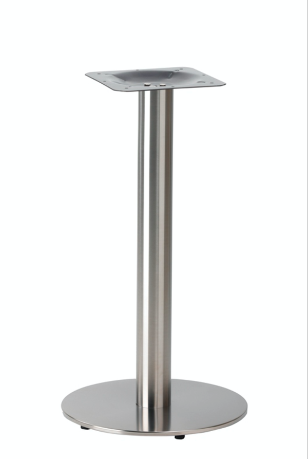 Round Flat Stainless Steel table base
