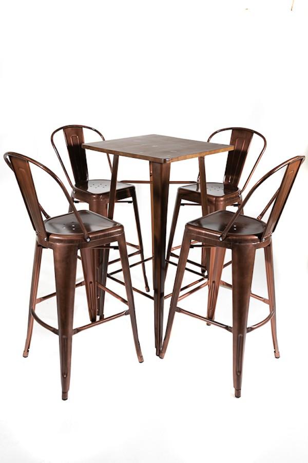 Copper Tolix  Chair Sets