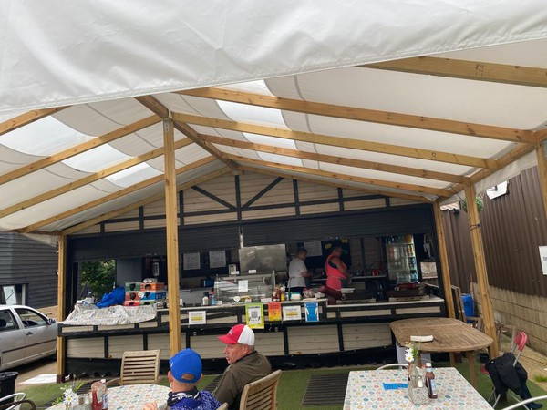 Wooden marquee / extension / covered seating