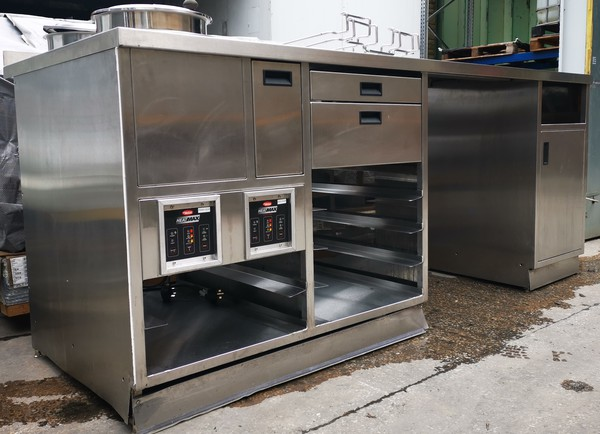 Soup station stainless steel table with soup kettle