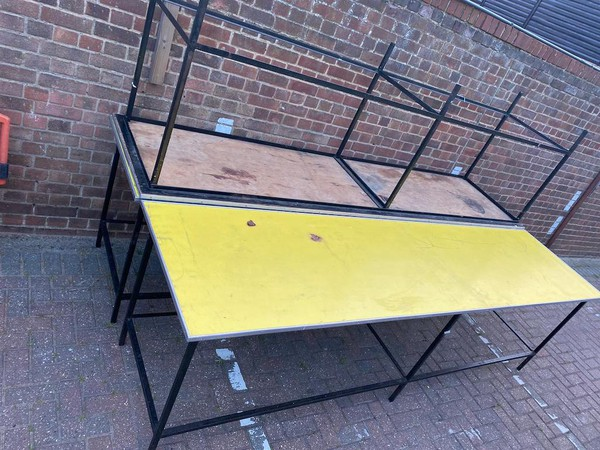 High Yellow Topped Tables