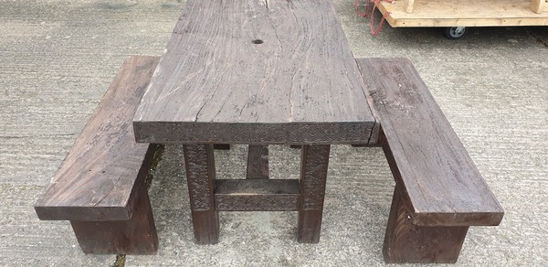 Table and Bench Sets for outside